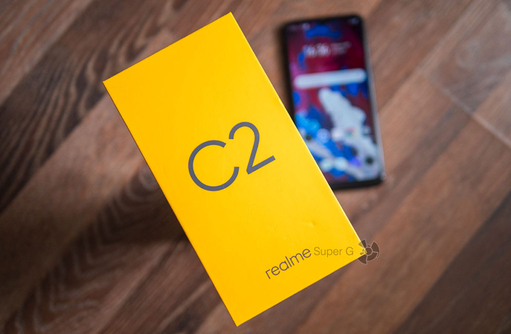 Коробка из-под Realme C2