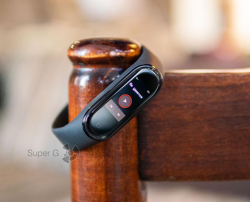 Управление музыкой Xiaomi Mi Smart Band 4
