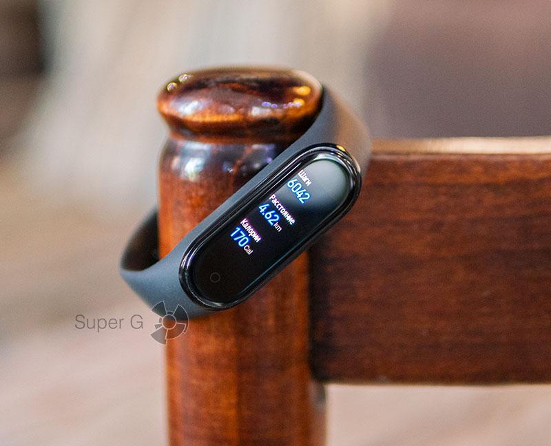 Подсчет шагов, расстояния и калорий Xiaomi Mi Smart Band 4