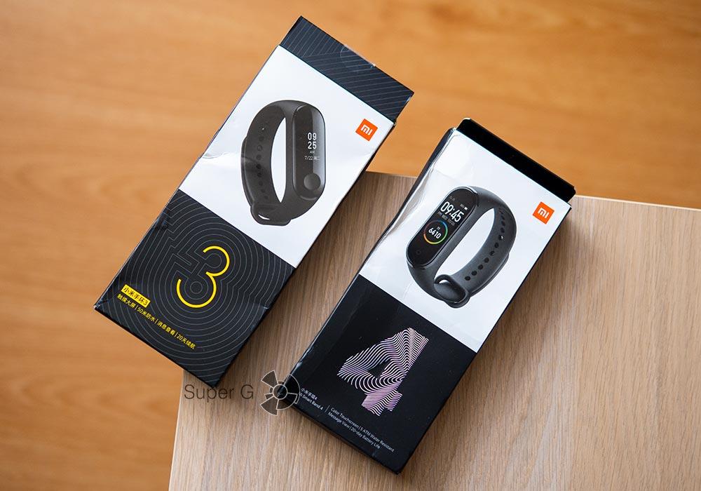 Коробка из-под Xiaomi Mi Band 3 и Xiaomi Mi Smart Band 4