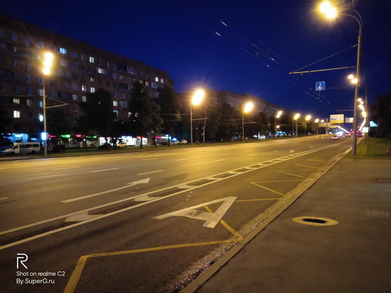 Ночное фото с Realme C2
