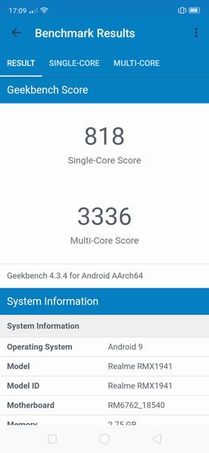 Realme C2 Geekbench 4