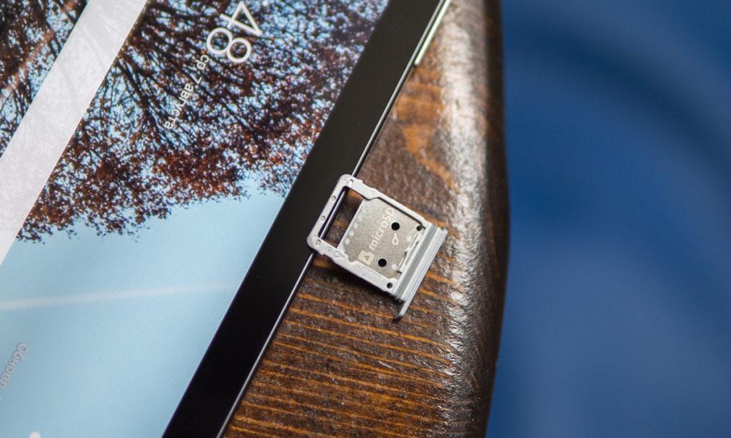 Слот для одной SIM-карты Samsung Galaxy Tab S6