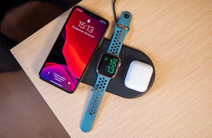 Беспроводная зарядка для iPhone, Apple Watch и AirPods