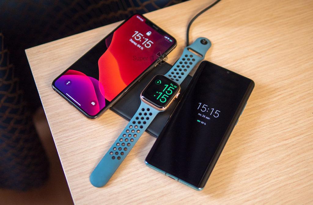 Беспроводная зарядка для iPhone XS Max, Apple Watch и AirPods