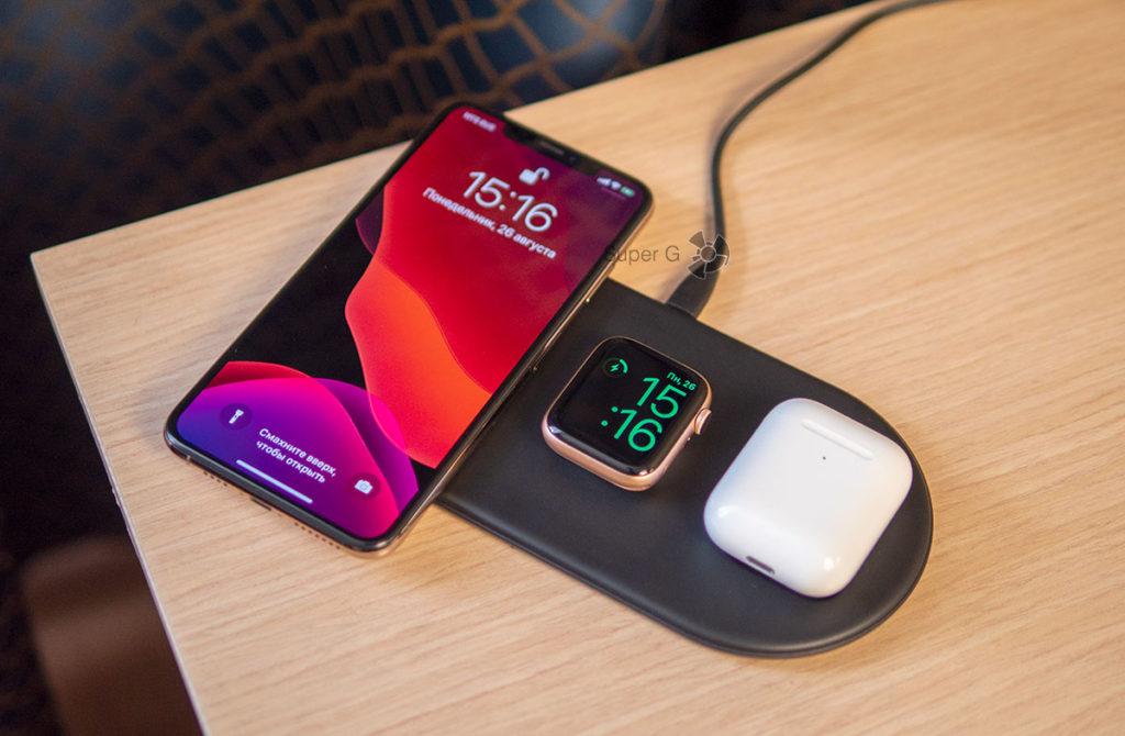 Baseus беспроводная зарядка для iPhone, Apple Watch и AirPods