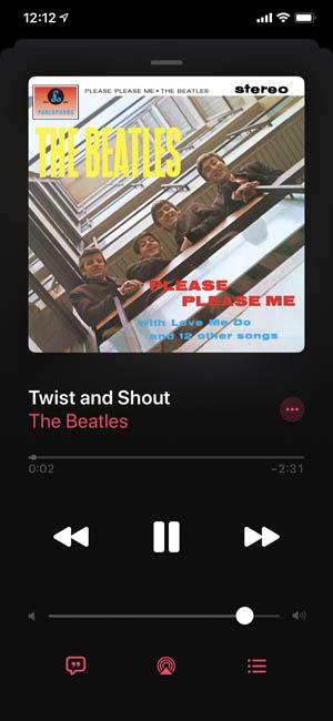 Музыка iOS на iPhone