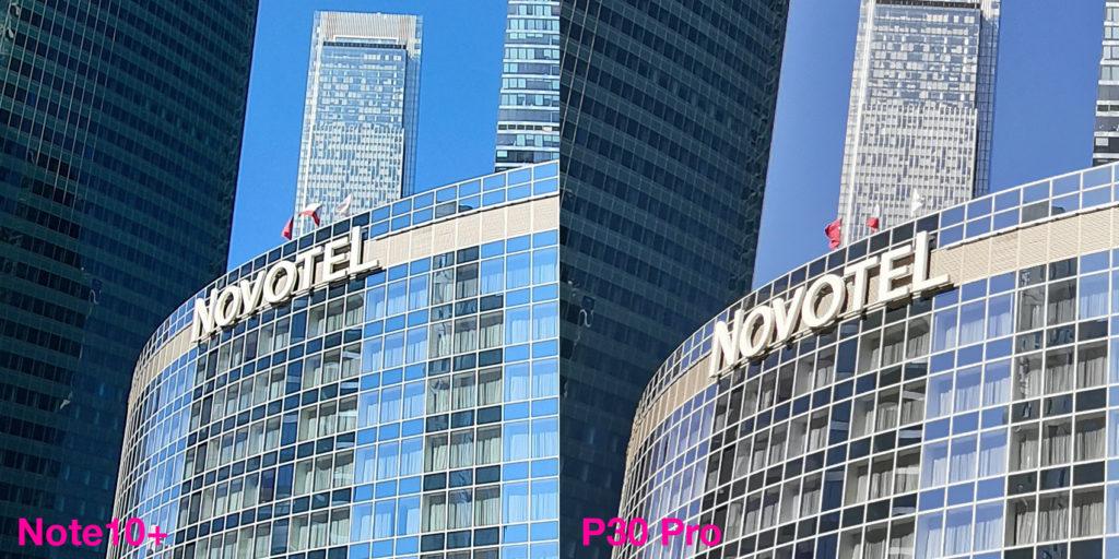 Сравнение широкоугольных камер Samsung Note10 Plus и Huawei P30 Pro