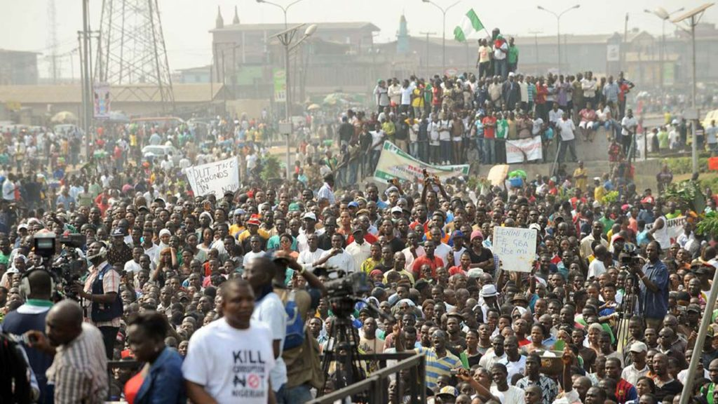 Мирные протесты в Нигерии
