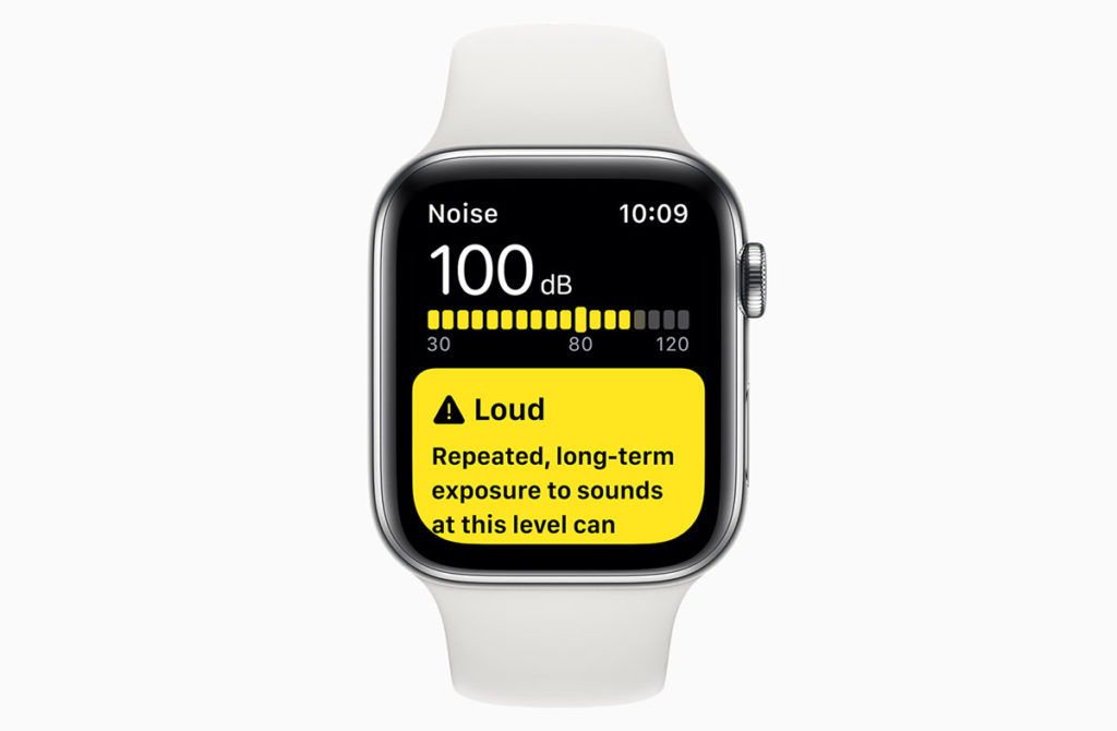 Apple Watch Series 5 уровень шума