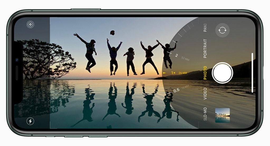 Интерфейс камеры iPhone 11 Pro