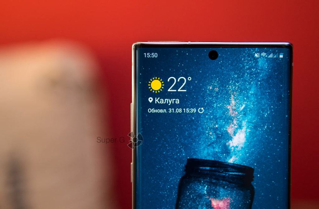 Безрамочный дисплей Samsung Galaxy Note 10 Plus