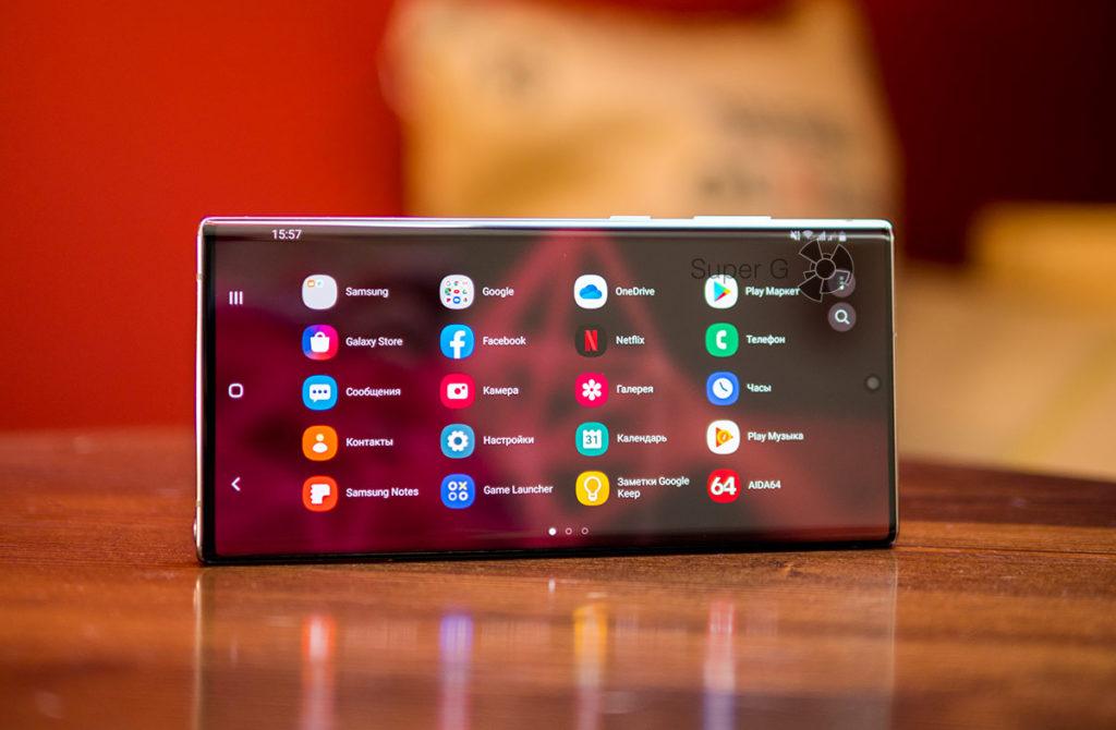 Горизонтальный режим работы Samsung Galaxy Note 10 Plus