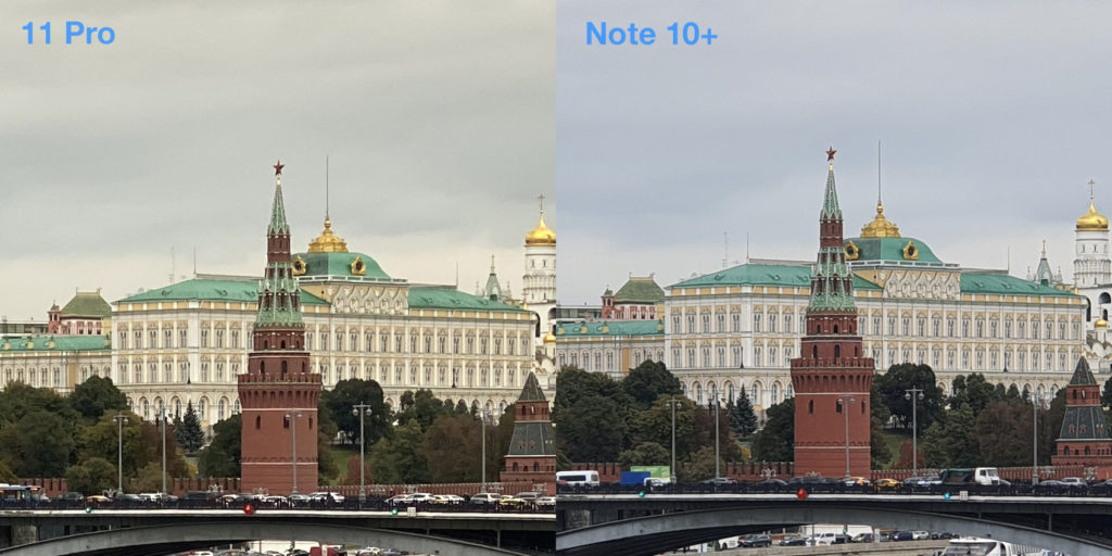 Сравнение f 2x zoom iPhone 11 Pro и Samsung Note 10 Plus