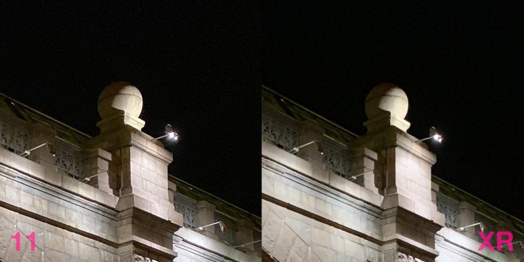 Сравнение фото с камер iPhone 11 и iPhone XR (ночь 0)