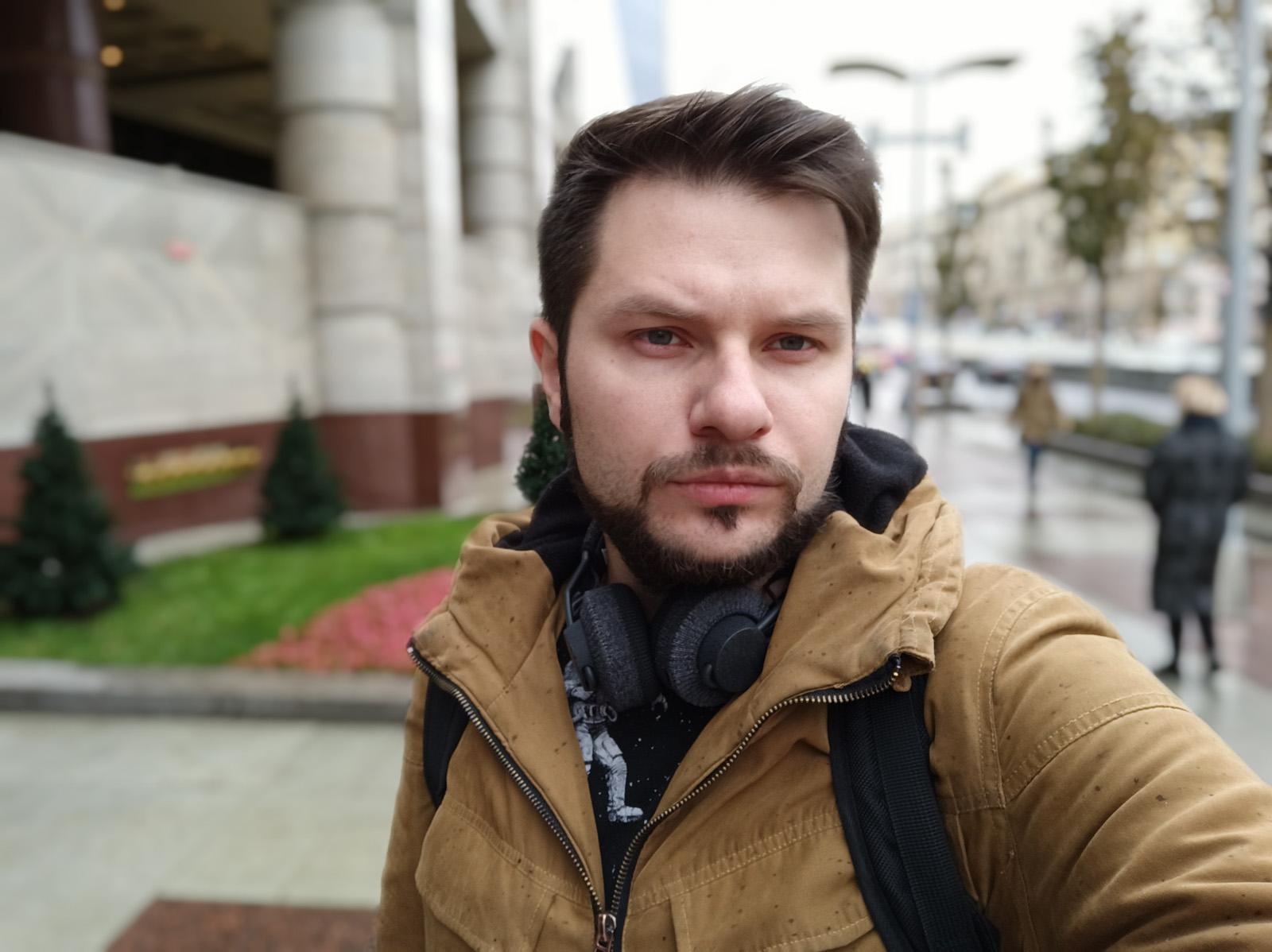 Портретный режим размытия фона фронтальной камеры Redmi Note 8 Pro