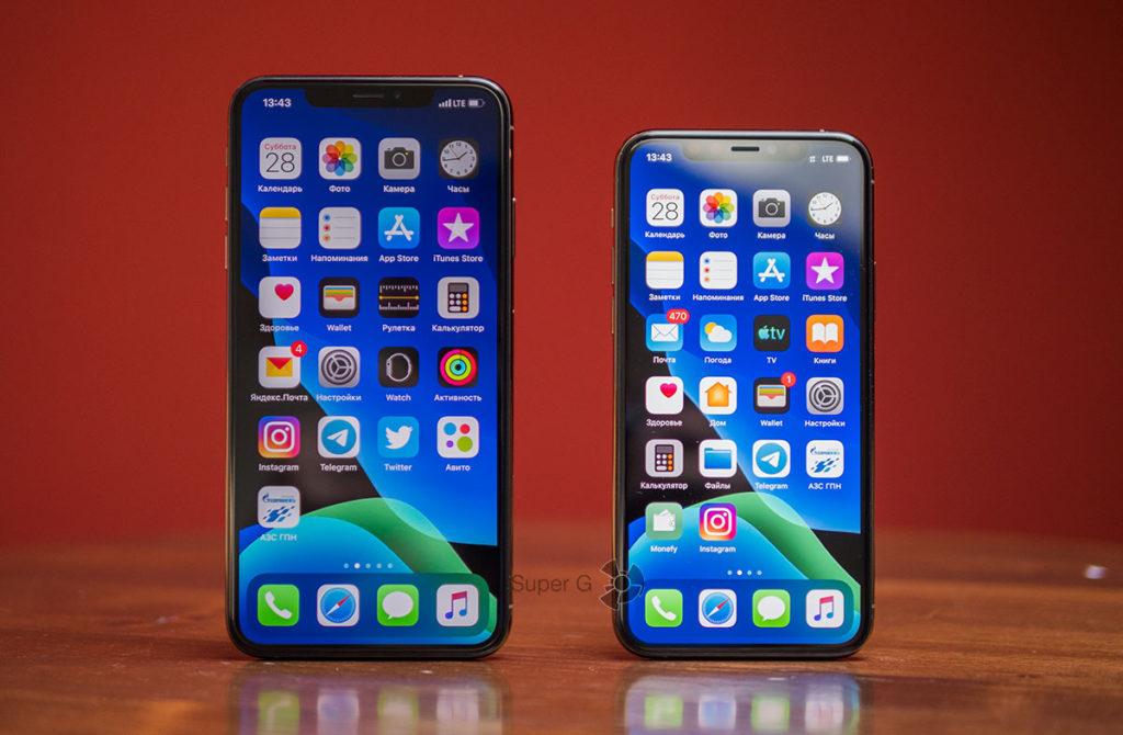 Дисплеи iPhone XS Max и iPhone 11 Pro