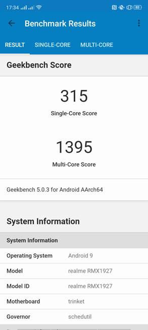 realme 5 Geekbench 5