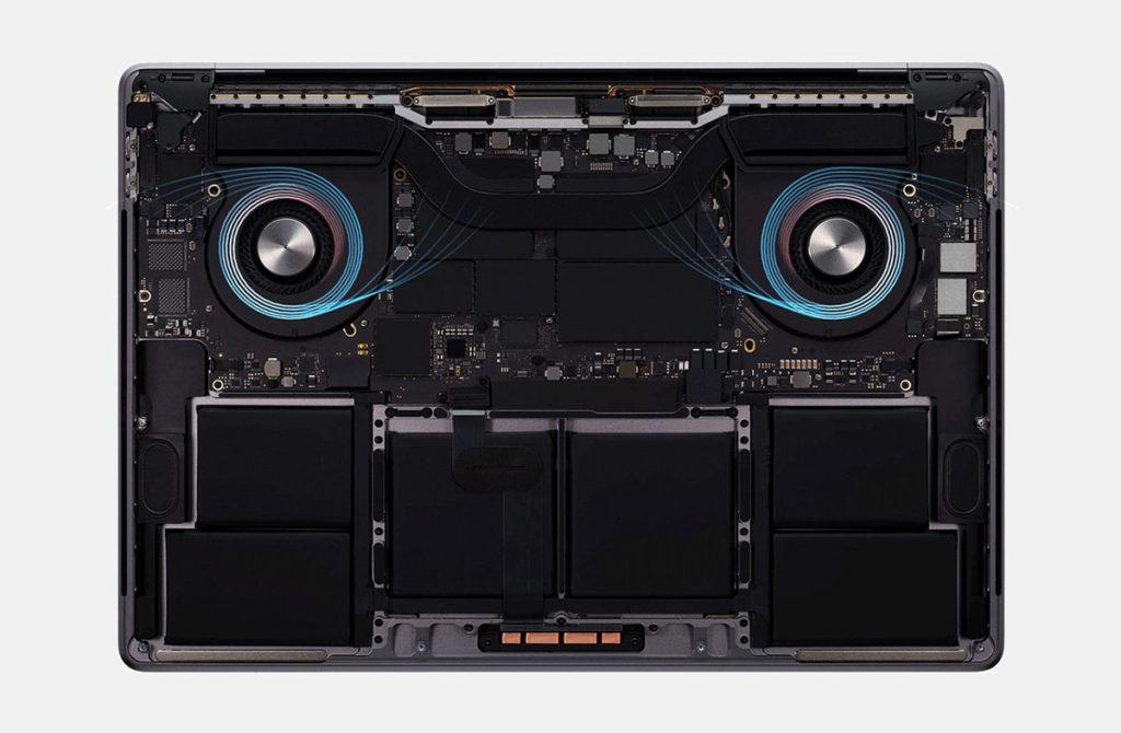 Охлаждение 16-inch MacBook Pro Advanced Thermal Design
