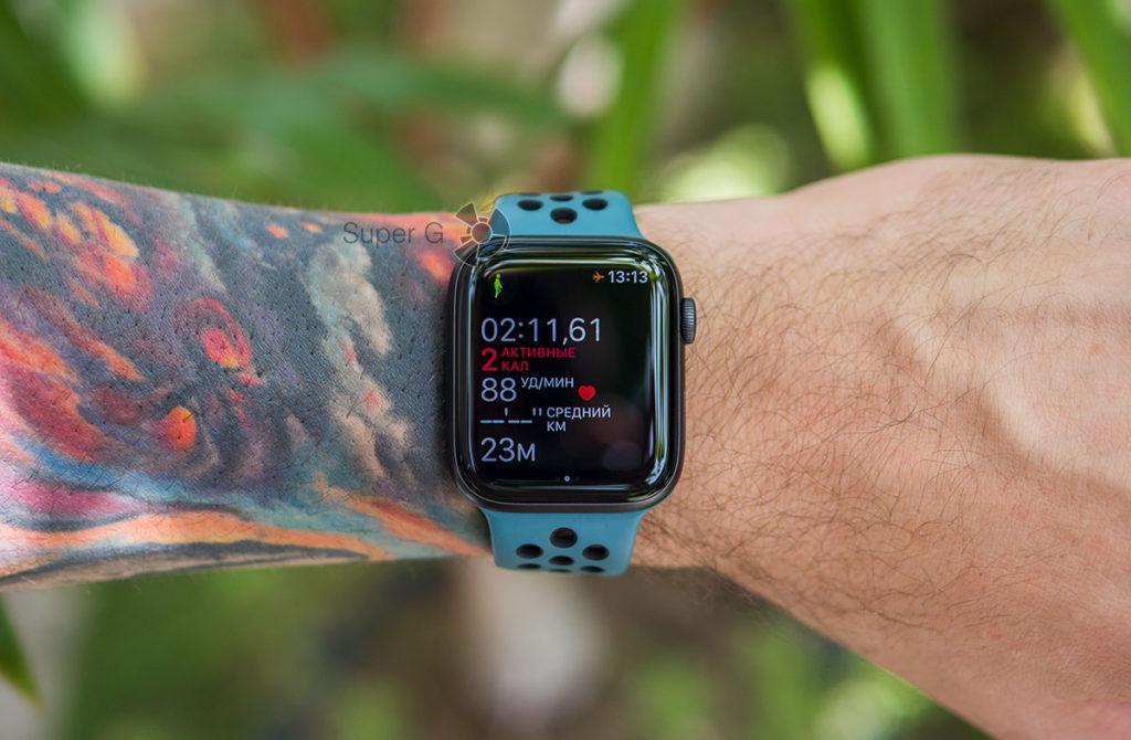 Режим тренировки Apple Watch 5