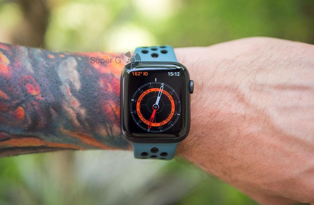 Приложение компас на Apple Watch Series 5