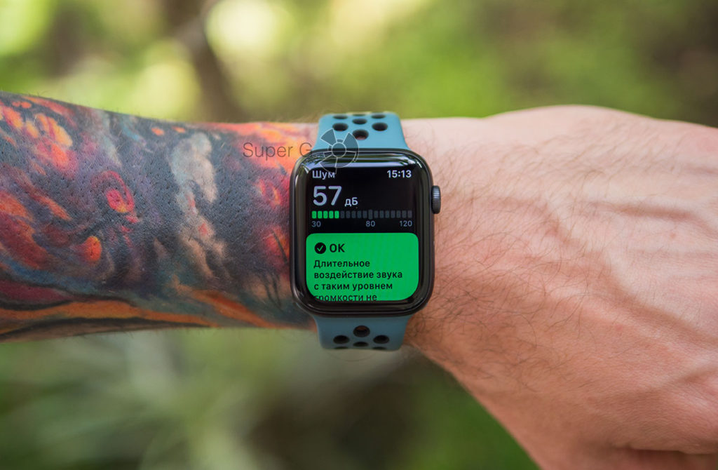 Приложение Apple Watch Series 5 для измерения шума