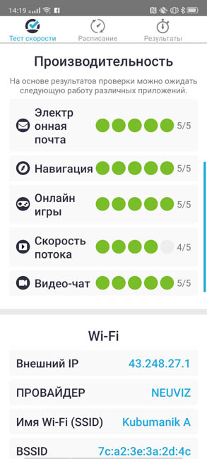 Speedcheck Android рекомендации
