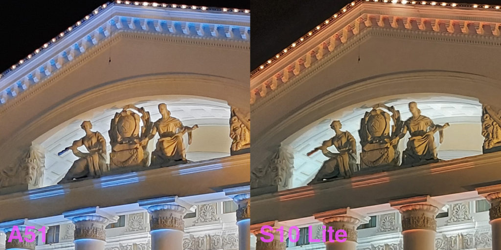 Comparison of camera Samsung A51 and Galaxy S10 Lite 2
