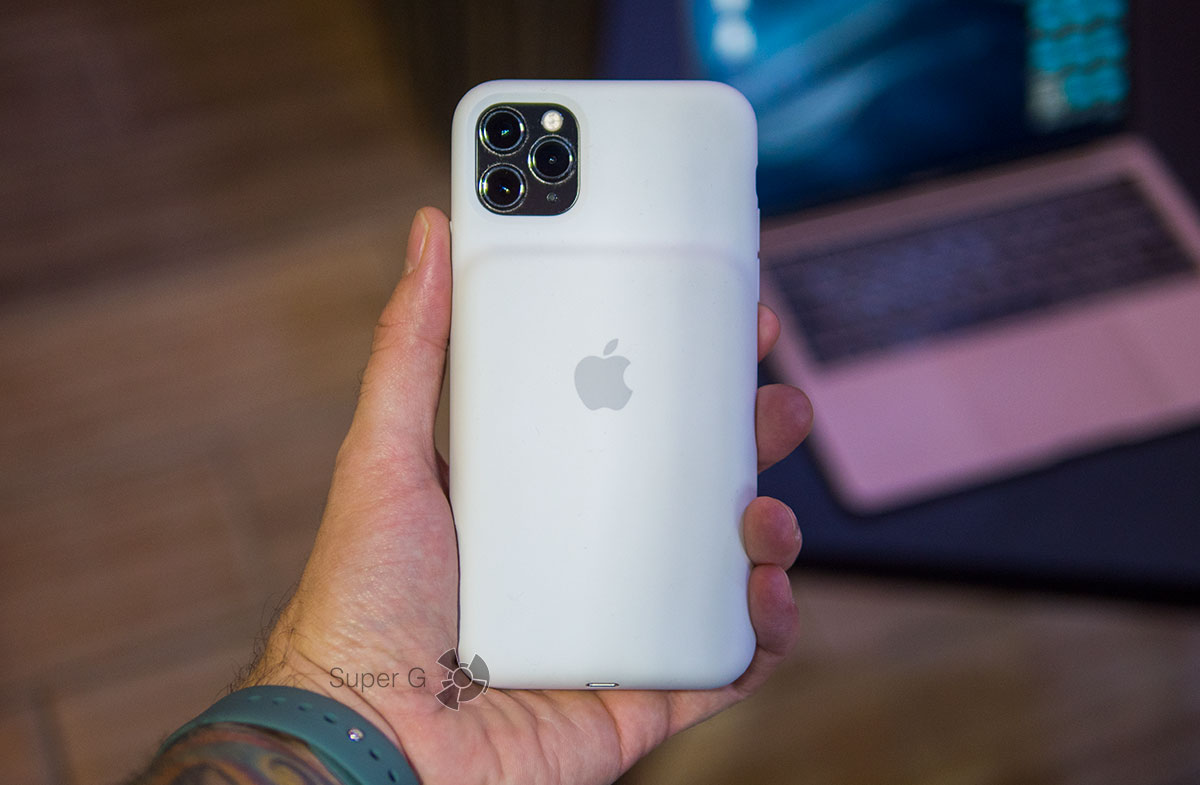 Белый чехол Apple Smart Battery Case для iPhone 11 Pro Max