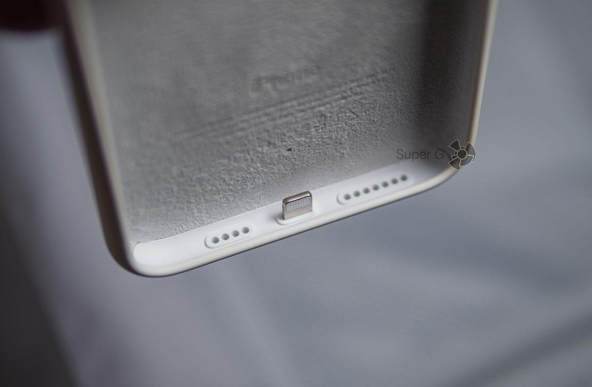 Пожелтевший край чехла Apple Smart Battery Case