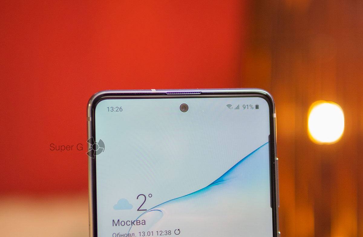 Рамки вокруг дисплея Samsung Galaxy Note 10 Lite