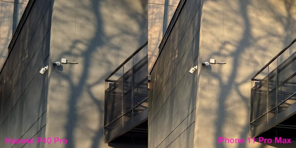 Сравнение качество фото основной камеры Huawei P40 Pro и iPhone 11 Pro Max