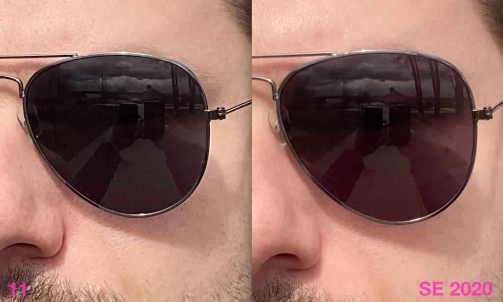 Сравнение качества фото с фронтальной камеры iPhone SE 2020 и iPhone 11