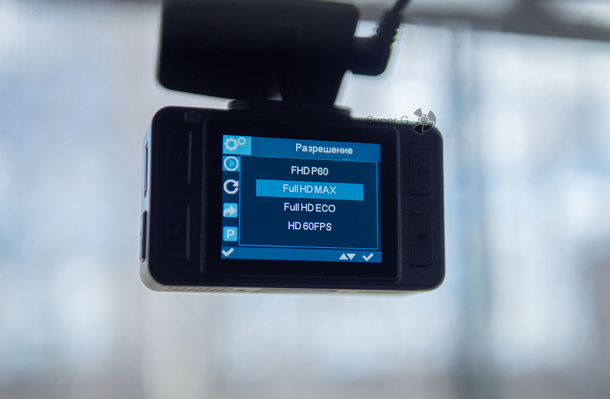 Качество записи Neoline G-Tech X77 - разрешение видео
