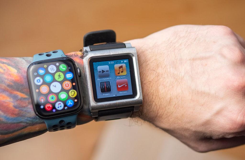 iPod Nano 6 и умные часы Apple Watch
