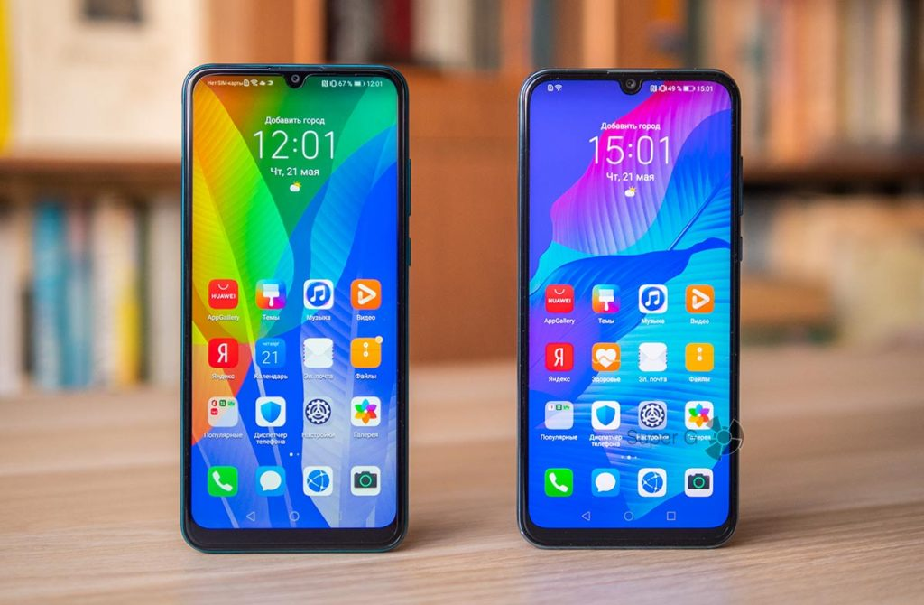 Huawei Y6p (слева) и Huawei Y8p (справа)