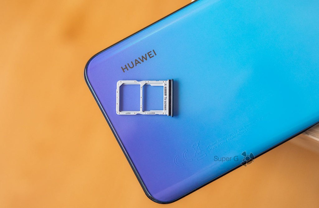 SIM-карты Huawei Y8p — вставлять карту памяти microSD некуда