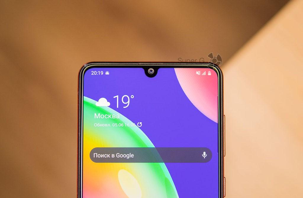 Фронтальная камера Samsung Galaxy A31