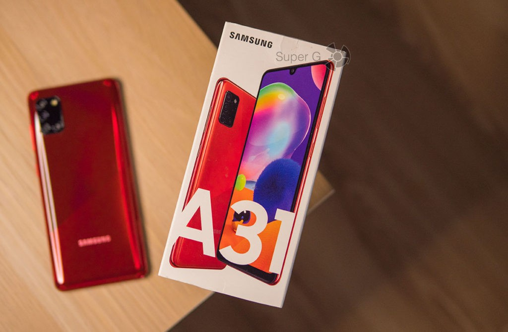 Коробка из-под Samsung Galaxy A31