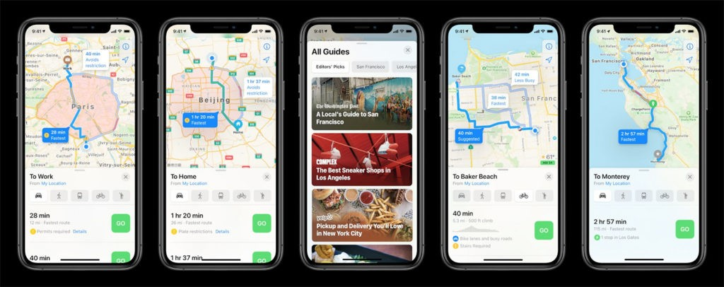 Apple Карты iOS 14