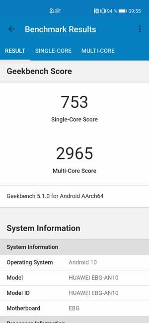 Honor 30 Pro Plus Geekbench 5