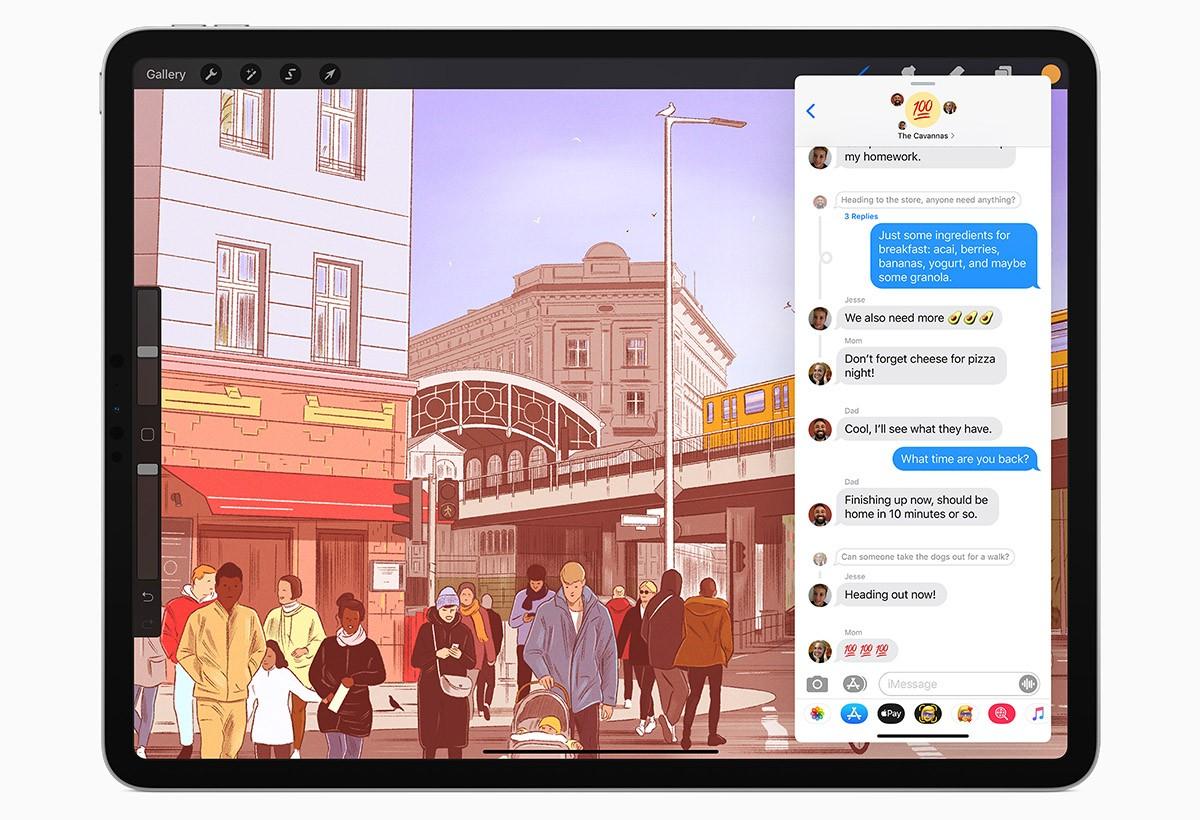 Сообщения iPadOS 14