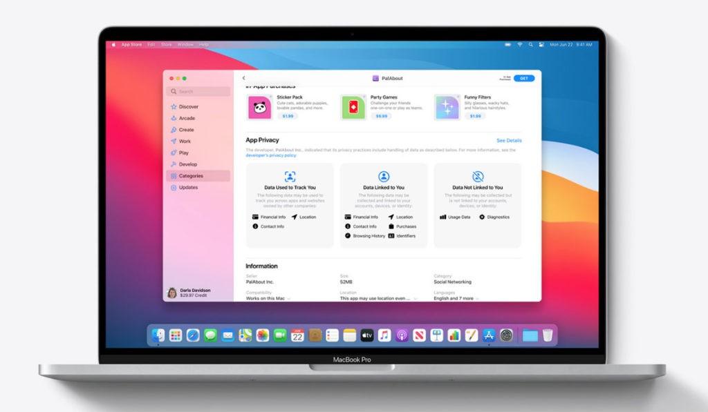 Mac App Store карточки приложений