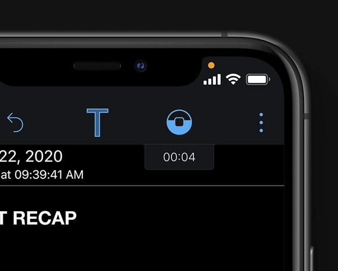 Запись с микрофона или с камеры на iOS 14