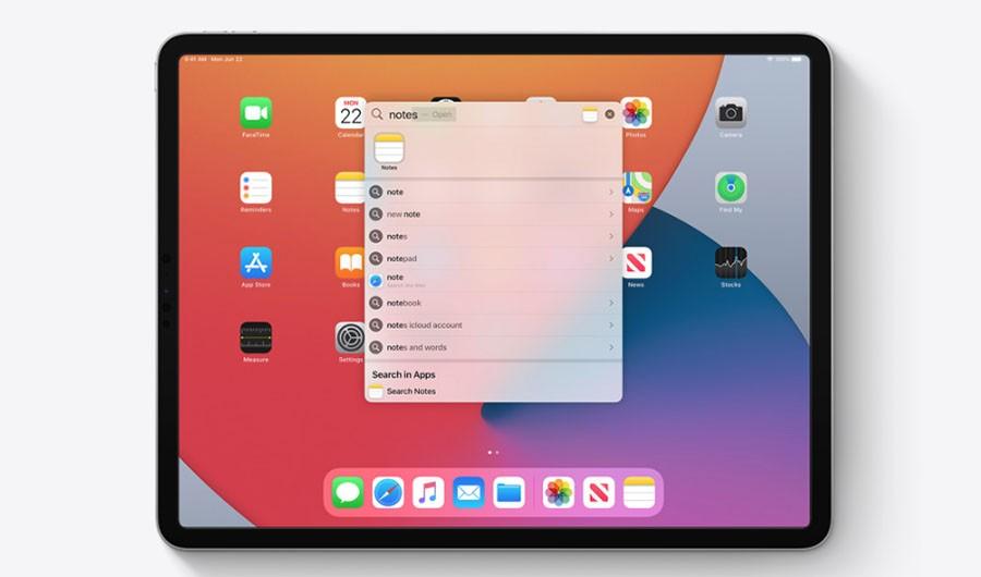Поиск iPadOS 14