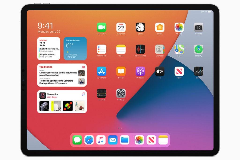 Виджеты iPadOS 14