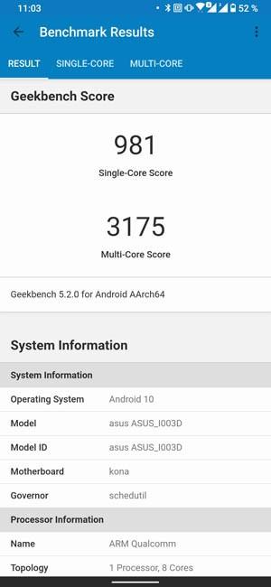 ASUS ROG Phone 3 Geekbench 5
