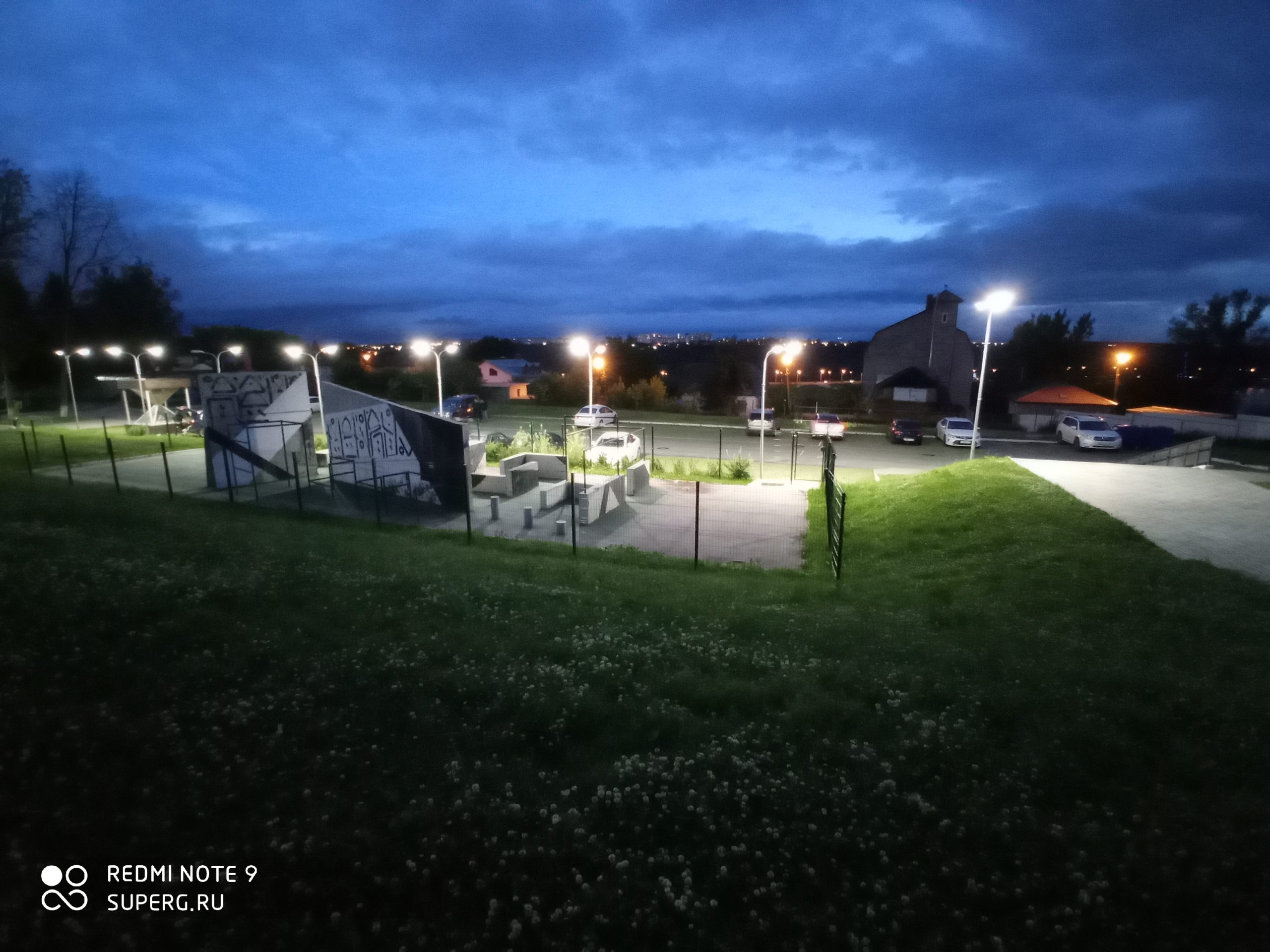 Ночная съёмка на широкоугольную камер у Redmi Note 9