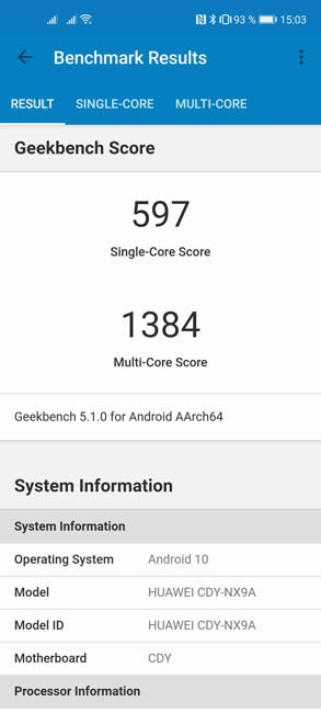 Honor 30S Geekbench 5