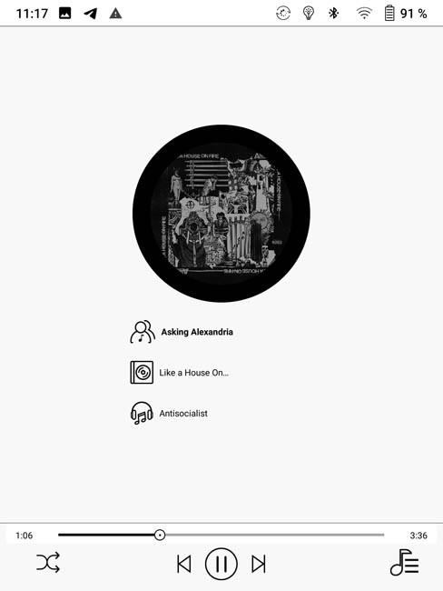 Слушать аудиокниги и музыку на ONYX BOOX KON-TIKI